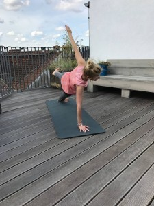 Running or yoga and sometimes the gym. Workouts for a working mum!