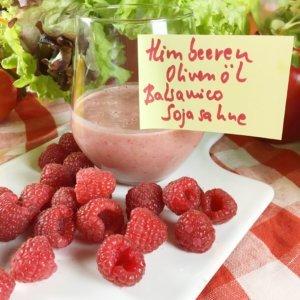 Köstliche Salatdressings mit Himbeeren