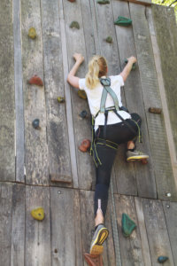 free climbing at the crag