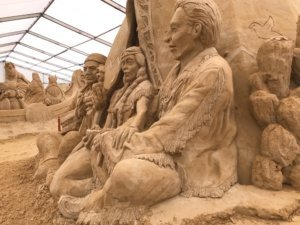 great sand sculptures on Usedom