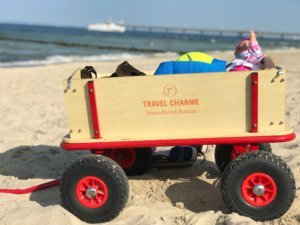 handcart on the beach of Usedom
