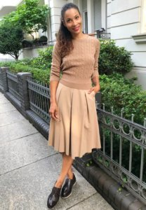 girlfriends style Camel skirt