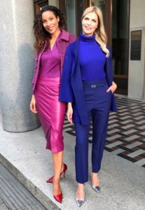 girlfriends style in violet and magenta