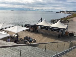 Cafes at the waterfront