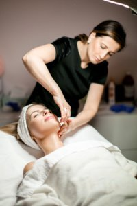 dermaplaning by a professional